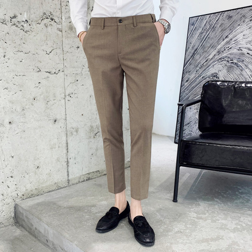 2020 Business Classic Pants Mens Pantalones Perfume Masculino Office Trousers For Mens Dress Pants Slim  Mens Formal Pants