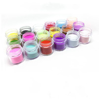 Маникюрный 18 цветов резная пыльца 10 г загруженный кристаллический порошок для ногтей цветной резной порошок diy украшения для ногтей