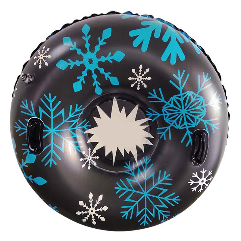 Snow Tube With Handle Inflatable Circle Of High-Quality Durable Thickened Size Circle Snow Water Ski Winter Sledge Skiing Circle