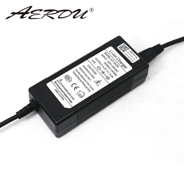 Paquete de batería de iones de litio AERDU 4,2 v 3A cargador Universal EU US UK AU Plug AC 100V 240V DC5521 adaptador de enchufe de pared tipo fuente de alimentación