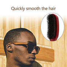 Bristle Wave Brush Wood Handle Anti-static Hair Comb Solid Beard Health Large Curved Styling Tool