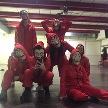 Сальвадор Дали Косплэй костюм The House Of paper дом вечерние Бумага маска для косплея на Хэллоуин деньги Heist и женских платьев чеонгсам маска для лица