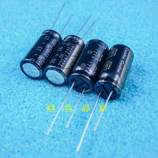 10 stücke NEUE ELNA ROA Cerafine 220 uF/25 V 10X21MM 25v 220uf audio elektrolytkondensator 220UF 25V Schwarz gold 25V220UF
