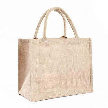 Portable Jute Reusable Tote Shopping Bag Grocery Organizer Storage Pouch - discount item  17% OFF Special Purpose Bags