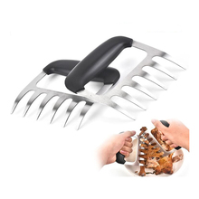 Pulled Pork Shredder-Tools Meat-Claws Blades-Clamp Roasting Fork Stainless-Steel Kitchen