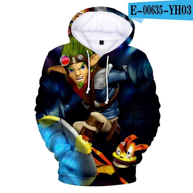 3D Game Jak Daxter Hoodies 3D Anime Hoodie Sweatshirt 3D