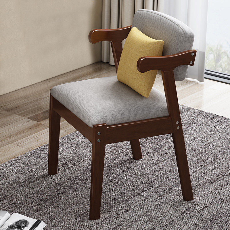 Image 3 - Home Dining Chair Fabric Cushion Side Chairs Modern Kitchen Wood Frame Chairs with Soft Seat Household Dining Side Chair-in Cleaning Brushes from Home & Garden