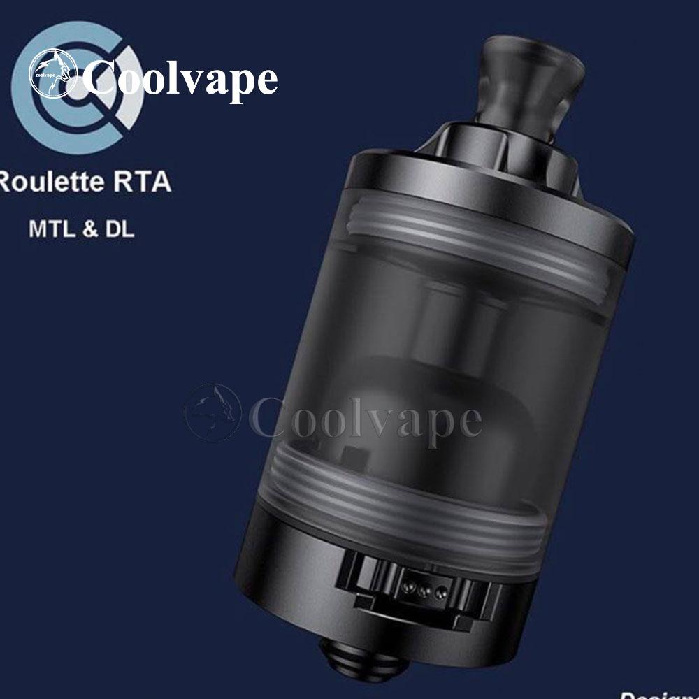 Coolvape Roulette Style MTL / DL RTA Rebuildable Tank Vape Atomizer 22mm Diameter 3.5ml 316ss Adjustable Airflow Rta