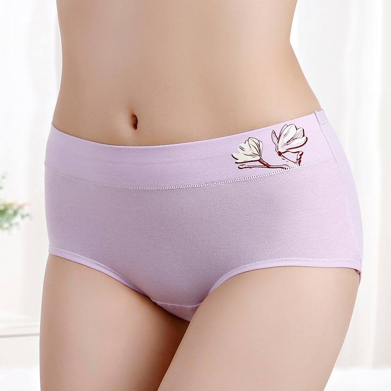 Новинка, большие размеры, хлопок, средняя талия, тисненые, для девушек, менструальные штаны, дышащие, мягкие трусы, нижнее белье, нижнее белье...