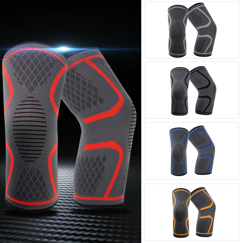 1pcs Unisex Knee Sleeve Compression Brace Support Sport Joint Pain Arthritis Relief Knee Sleeve For Basketball Runing Sports