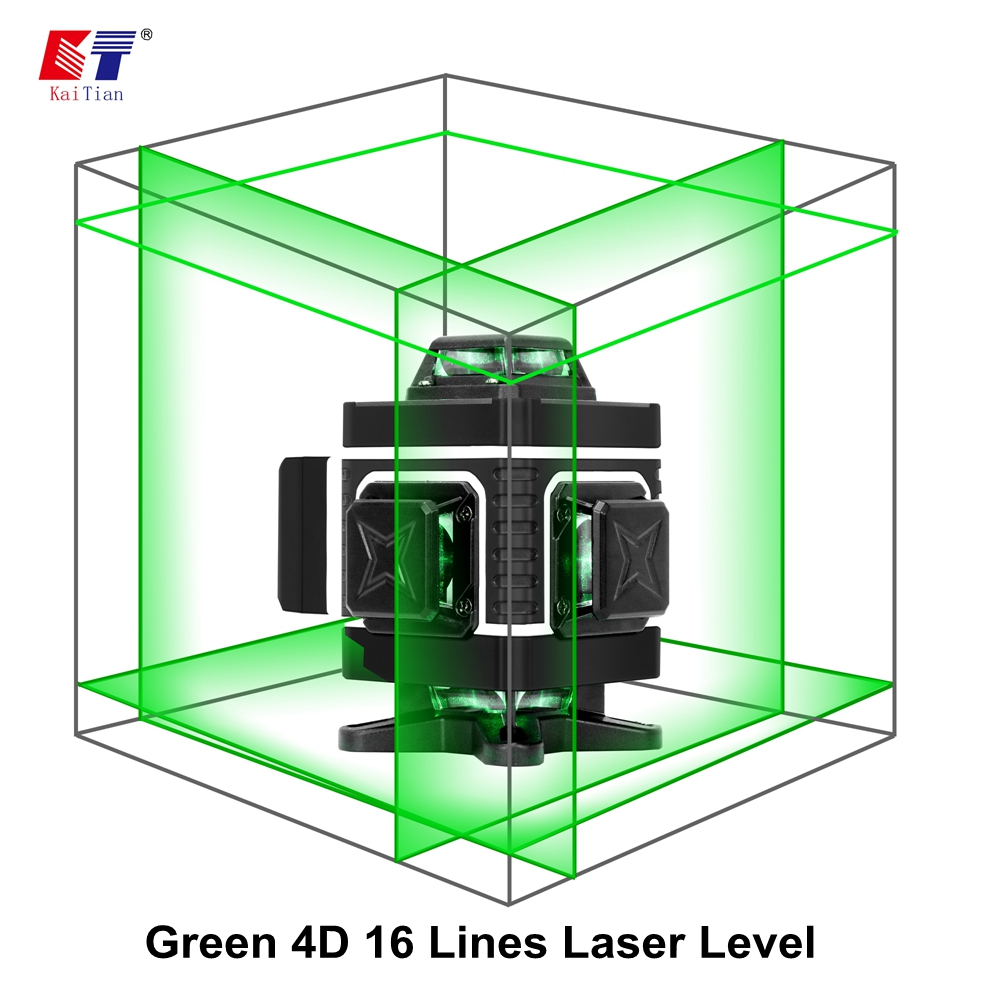 Tripod Laser 4D Green Bracket Vertical Level Kaitian Self Nivel Powerful Leveling Laser Receiver Green 360 Horizontal 3D 16Lines
