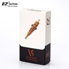 EZ V Select Cartridge Needles #12 (0.35 mm) Round Liner Tattoo Needles Elastic Membrane for Cartridge Tattoo Machines 20 Pieces