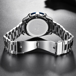 Image 4 - BENYAR 2019 メンズ腕時計トップの高級ブランドビジネススチールクォーツ時計カジュアル防水男性腕時計レロジオ Masculino