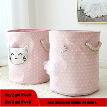 Laundry-Basket Toys Hamper Dirty Clothes Canvas Large Storage Home-Organizer Foldable