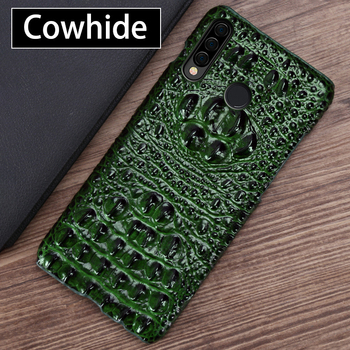 Leather Phone Case For Huawei P20 P30 P40 P Smatr Nova 5T Mate Honor 30 10 10i 20 Lite 20i 8X Max 9X Pro Crocodile Head Cover