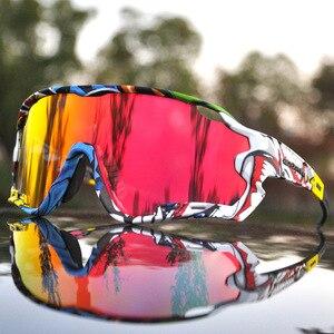 Image 1 - 2019 erkek kadın polarize bisiklet gözlük UV400 bisiklet gözlüğü TR90 bisiklet gözlük açık spor bisiklet güneş gözlüğü 4 Lens