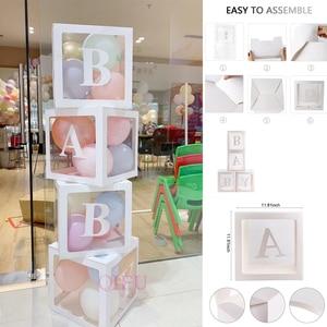 Image 5 - Qifu 赤ちゃん透明ボックス収納バルーン装飾 1st 誕生日パーティーの装飾ベビーシャワーの少年少女のギフト
