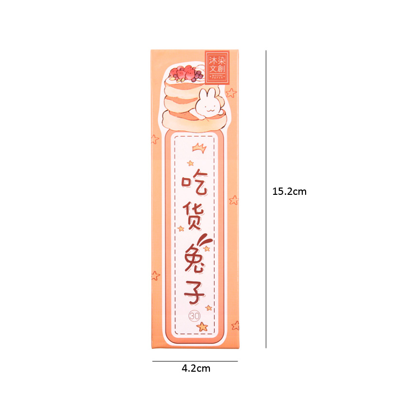6packs lot Lovely Greedy Rabbits Paper Bookmarks Kawaii Book Holder Message Card School Supplies Kids Gifts in Cards Invitations from Home Garden