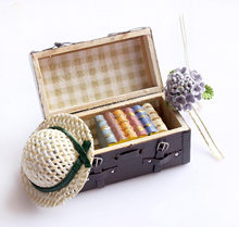 New Handicraft Vintage 1:12 Dollhouse Miniature Luggage forest animal family furniture toys for girls Gift for children 2017(China)