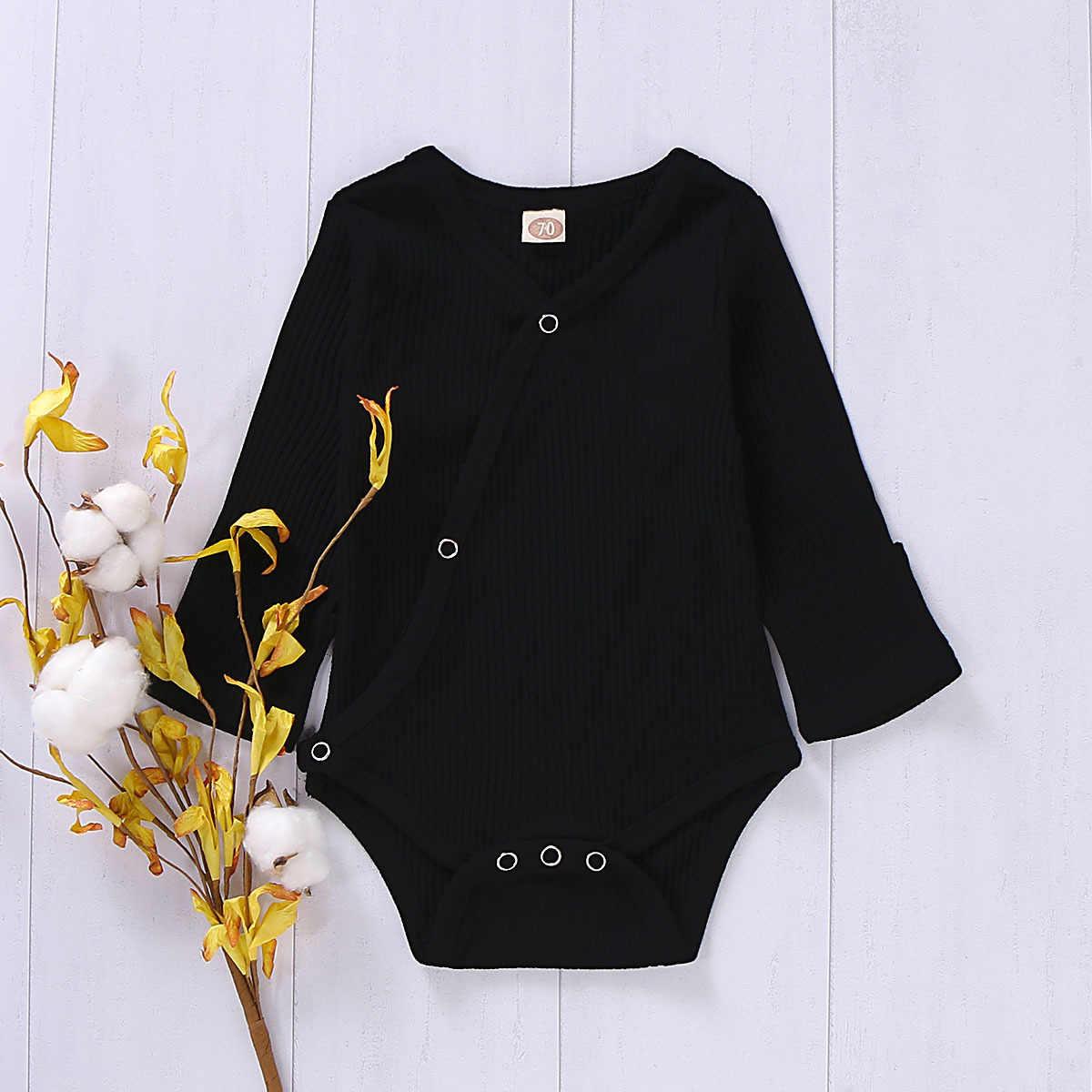 Mono para bebés recién nacidos, niñas, niños, Bodysuit, ropa de otoño, de manga larga, sólido, mono, ropa de bebé