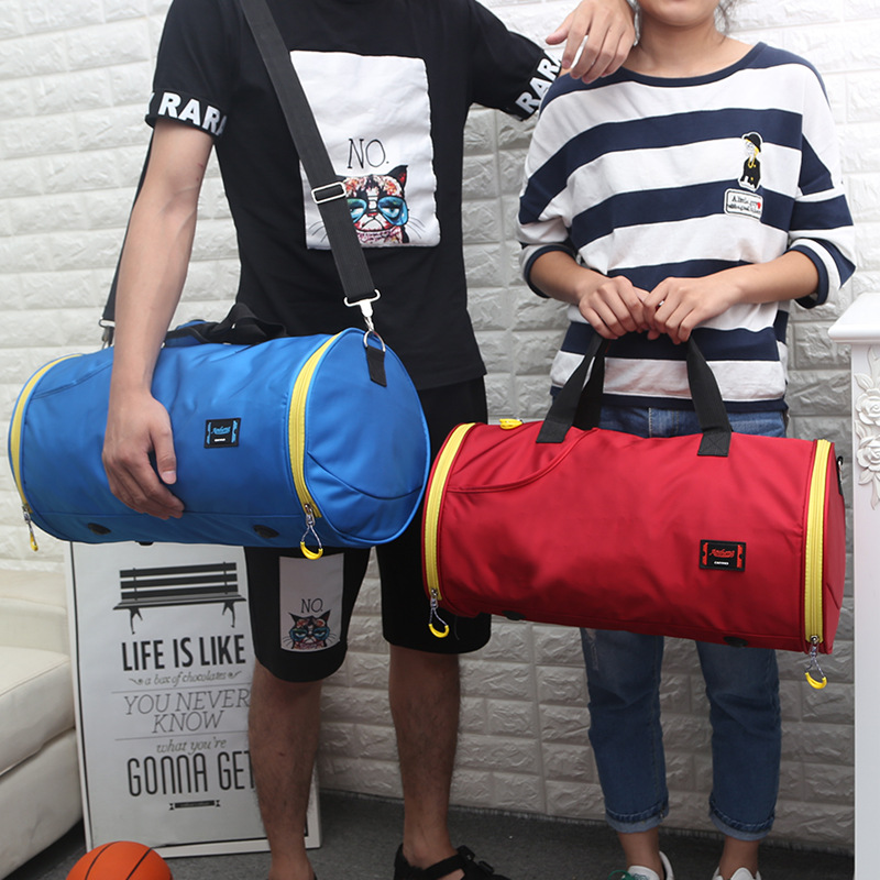 Manufacturers Wholesale Large Capacity Sports Bag Gym Bag Women's One-Shoulder Handbag MEN'S SHOES Bit Yoga Bag Short Trip Cross