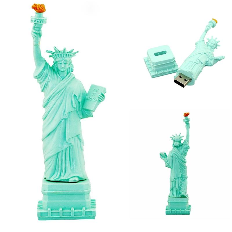 Statue Of Liberty Flash Disk Pen Drive 256 Gb USB Flash Drive 4gb 64GB 32gb Memory Stick 16GB 8GB 128GB Usb Personalise Pendrive