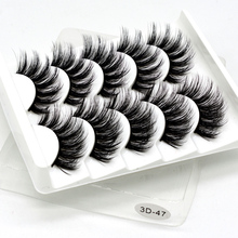 Mink eyelashes 5 pairs of handmade 3d mink lashes natural extended beauty makeup false