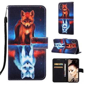 For Fundas Samsung Galaxy M10 M20 M30 S8 J6 Plus A10 A10E A20E A20 A30 A40 A50 A70 Case Wallet Card Slot Cute Flip Cover DP03D 1