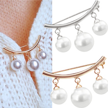 Brooches Women Jewelry Sweater Coat Decoration Cardigan Pearl Girl