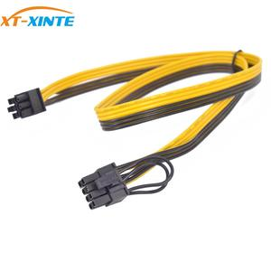 Image 2 - 6PCS PCIe 6Pin to 6+2 Pin Power Supply Cable 8 pin to 6 Pin PCI Express Graphics Card Power Cable Male to Male Port
