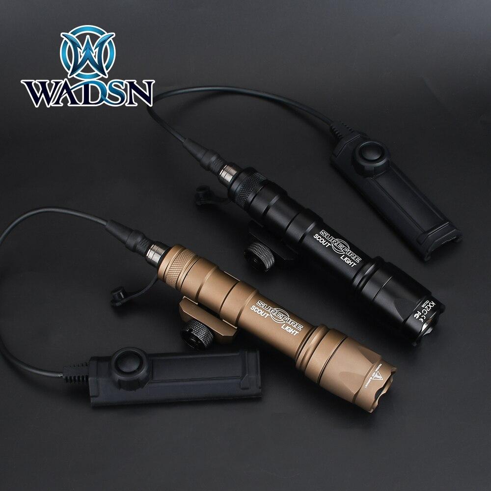 WADSN Airsoft Surefir M600 M600C скаутский фонарик 340 люмен светодиодный охотничий охотничье ружье оружейный фонарь с двойной Функция лента переключател...