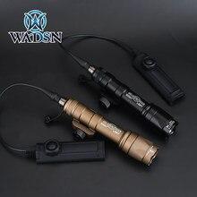 Wadsn airsoft surefir m600 m600c scout lanterna 340lumens led tatical caça arma luz com dupla função fita swtich