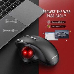 Image 5 - Gelée peigne Bluetooth Trackball souris Rechargeable 2.4G USB sans fil et Bluetooth souris ergonomiques pour ordinateur portable tablette PC Mac Android