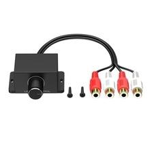 Автомобильный внутренний Стерео уровень баса Boost аудио адаптер усилителя Универсальный цифровой пульт для регулировки громкости декоративная дверная ручка мини