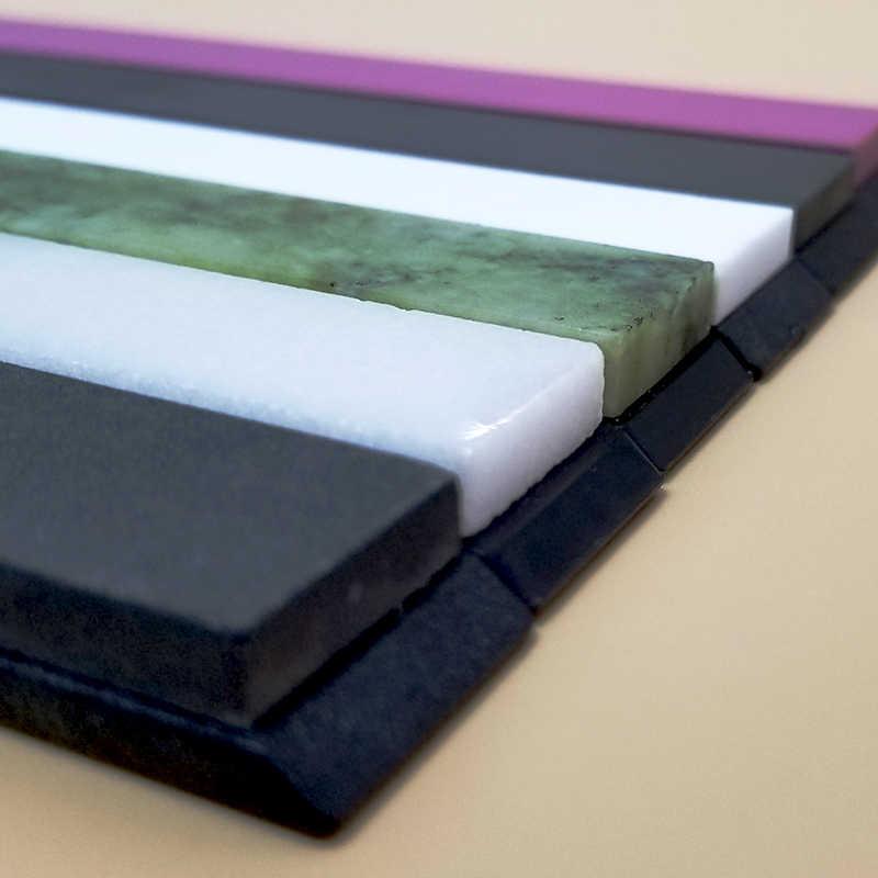 Pedra verde Natural pedra de afiar pedra de amolar pedra fina moagem de petróleo ferramenta DIY espelho de polimento de pedra