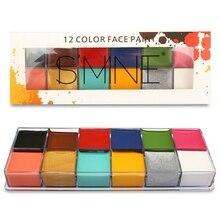 12 Colors Face Paint Drama Clown Dance Party Oil Color Festival Halloween Makeup Body Painting Fake Blood