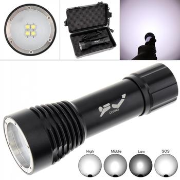 8000LM 5 Modes Light 4 XM-L2 LED Diving Flashlight Underwater 100M Professional Underwater Video Searchlight Scuba Dive Light