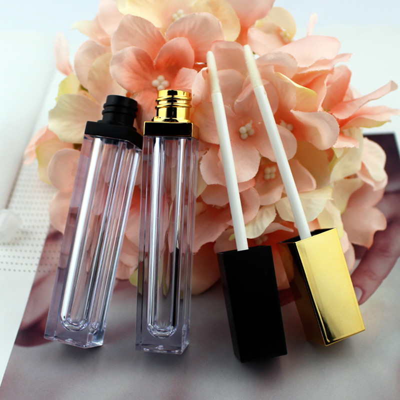 10/30/50pcs High Class 6ml Acrylic Lip Gloss Bottle Empty Cosmetic Lip Oil Refillable Tube Liquid Lipstick Storage Container