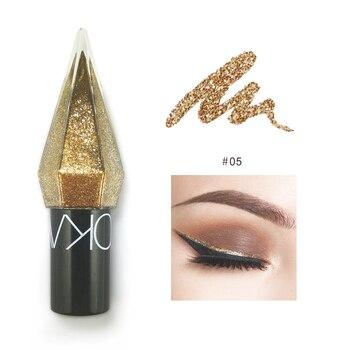 LOOKAVE Silver Glitter Eyeshadow Liquid Eyeliner Quick Dry Eye Makeup Waterproof Liquid Eyeliner Eye Liner Makeup Long Lasting 1