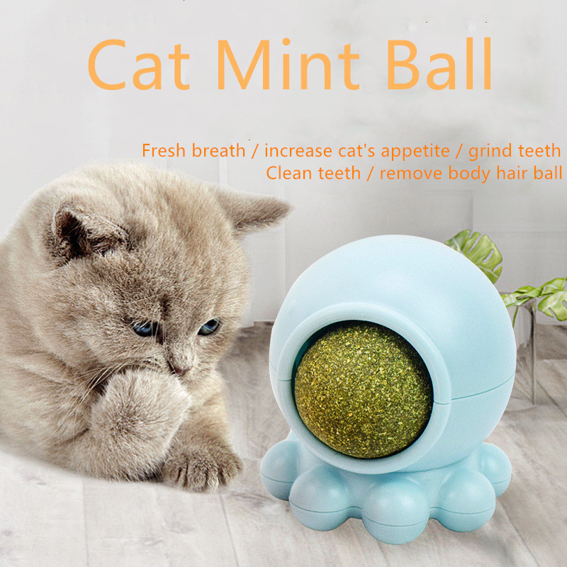 Natural Catnip Toys for Cats Edible Treating Cleaning Teeth Pet Supplies Cat Toy Pleasing Catnip Ball Pussy Licking Toy Products