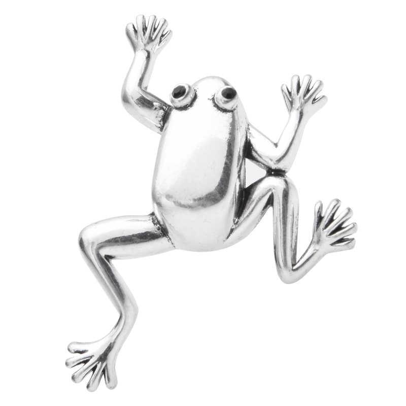 Wuli & תינוק רטרו צפרדע סיכות נשים סגסוגת קלאסי 2-צבע צפרדע בעלי החיים סיכת סיכות ראש השנה מתנות