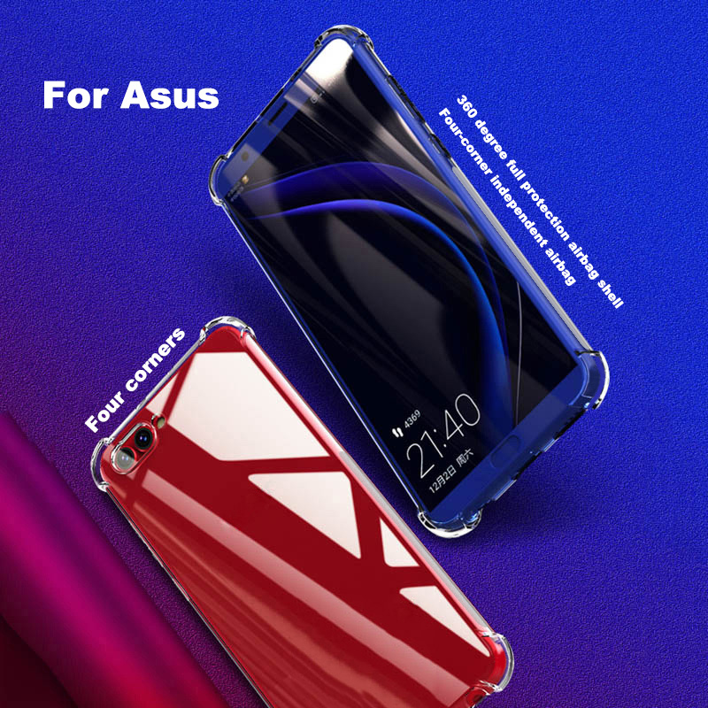 Luxury Case for Asus Zenfone ZC500TG-Go ZS570KL ZU680KL ZE552KL ZS550ML ZB452KG Flexible Transparent Soft Silicone Case Cover(China)