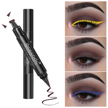 2 In 1 Double-head Liquid Eyeliner Pen Waterproof Colorful Glitter Delineador Easy Coloring Smudgeproof