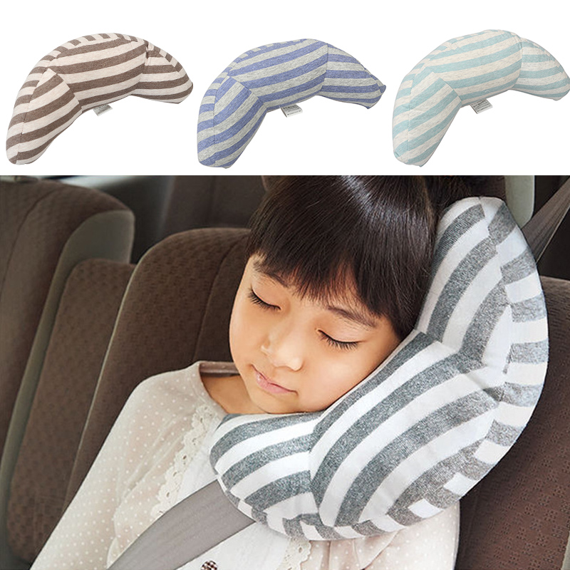 Hot New 1 Pc Children Auto Car Seat Headrest Pad Shoulder Support Cushion Cotton Soft Sleep Pillow High Quality image