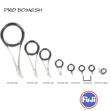 PROBOMESH FUJI Guide and Top 8pcs Set CCLYOG CCLOG Guide CCFOT Spinning Guide Set Rod Building component Repair fishing pole DIY