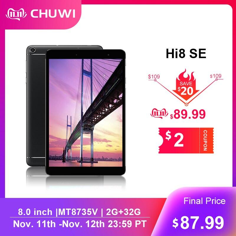 Chuwi original hi8 se 8.0 Polegada tablet pc mt8735vt cortex-A53 cor quad core 2 gb ram 32 gb rom android 8.1 tablet wifi 2.4g/5g