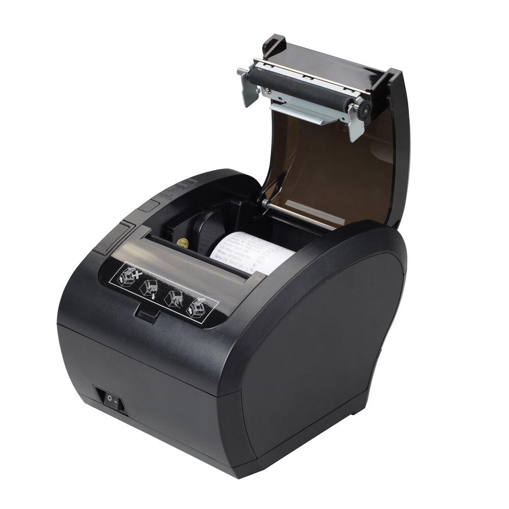 Schwarz Schnelle geschwindigkeit Empfang drucker Dual interface POS Drucker thermische drucker