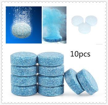 10PCS / pack car windshield wiper effervescent tablets clean solid for BMW F07 F10 F11 M5 Z4 E85 E89 E61 E60 E63 i8 and i3 E39 image