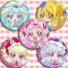 Anime Cartoon Hugtto! Pretty Cure Cure Yell Ange Etoile Macherie Amour Knop Badge Broche 5pc Halloween Cosplay Badge Broche(China)