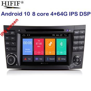 PX5 4G+64G 7 Car Monitor DVD GPS Navigation Stereo Radio for Mercedes Benz G/E Class W211 W463 W209 W219 Steering Wheel BT WIFI image